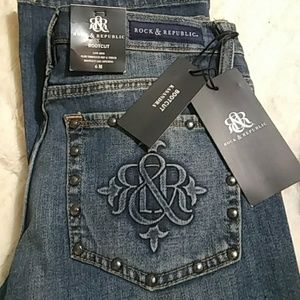 Rock & Republic Bootcut Kasandra Distressed Jeans